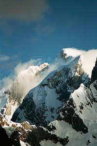 High winds rake the summits...