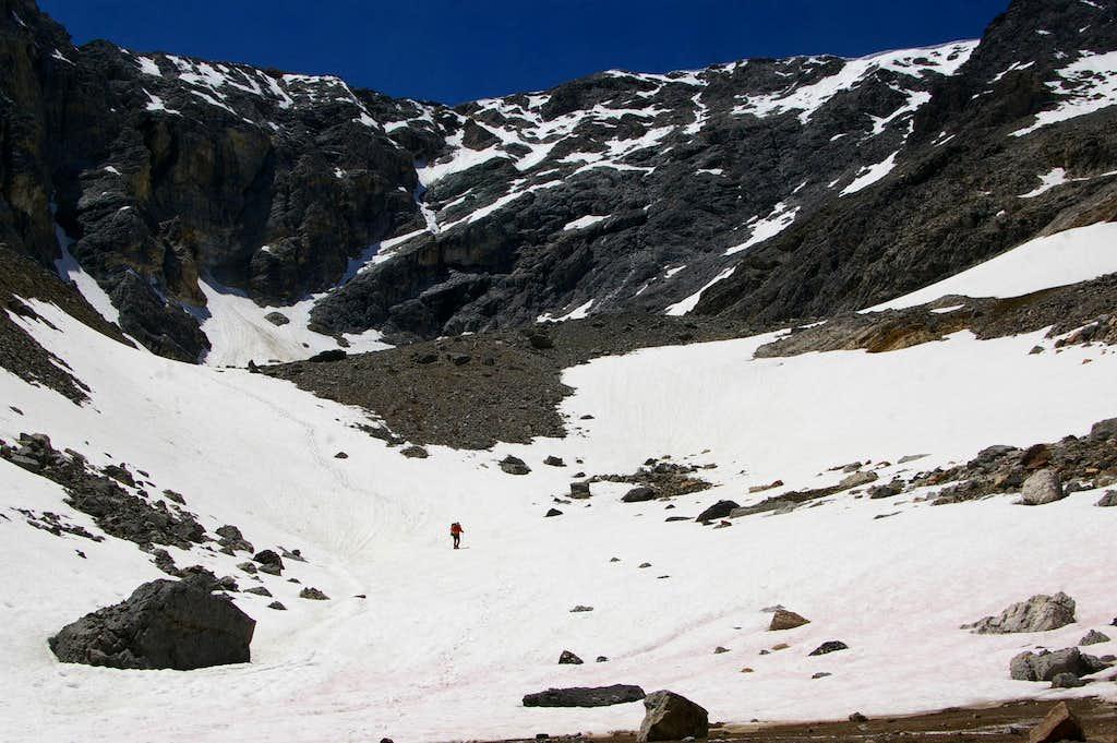 Borah - Descent from S Couloir