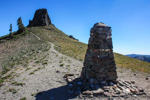 Watson Monument and Emigrant Crag from the north (at Emigrant Pass)