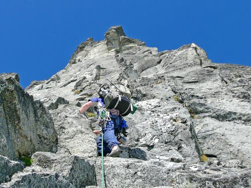 Climbing on the South Ridge