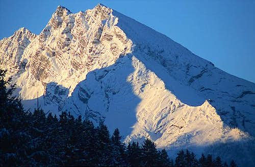 Watzmann from NE in the...