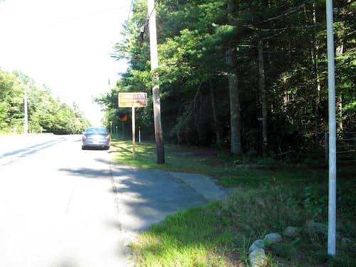 Jerimoth Hill -- Roadside Parking