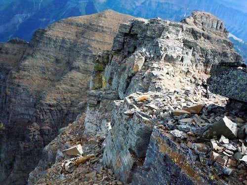 Glacier Park rocky ridges