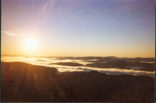 Sunrise form the fire tower.