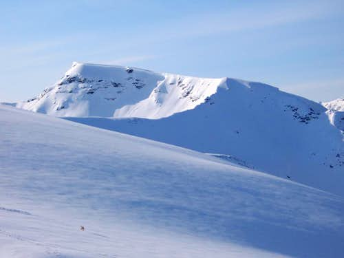 Maritind from Fagerfjell winter.