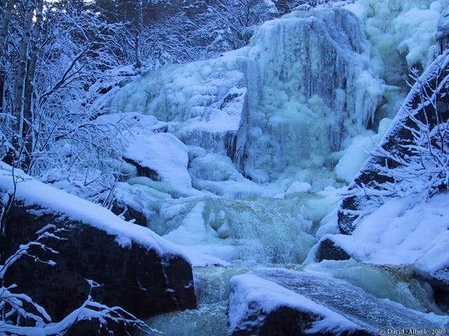 Zealand Falls. Ice climbing...