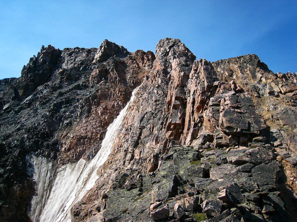 The upper NE Ridge