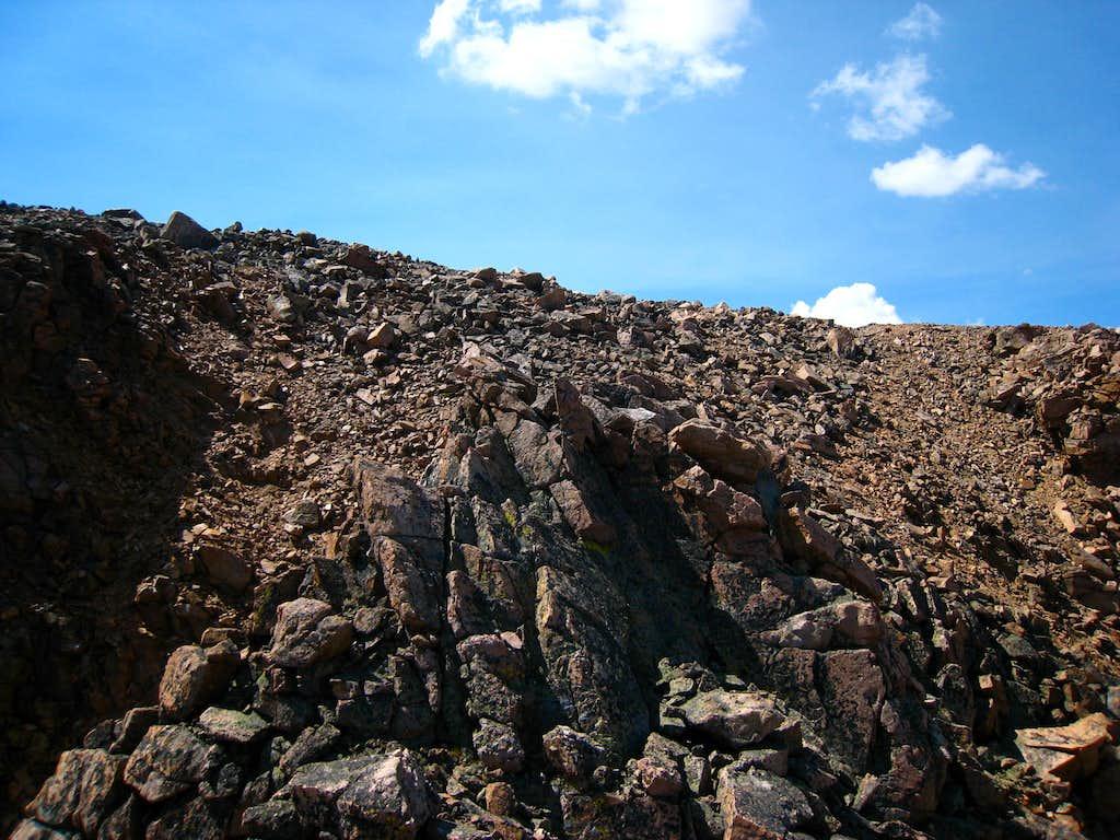 Reaching the summit plateau