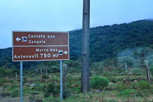 Informational Sign at 1550m