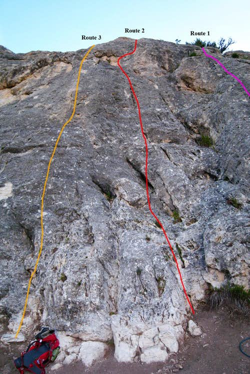 Looking up routes 1-3