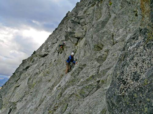 Down Climbing on the Northwest Face