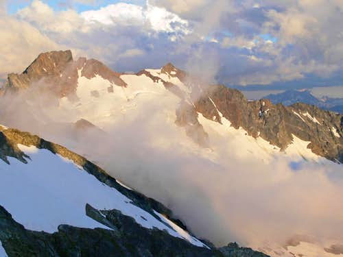 Sahale and Boston Peak with Evening Light