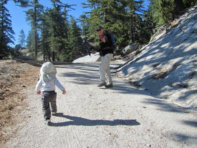 "My 17 month old son\'s first ""real hike"" to Black Mountain"