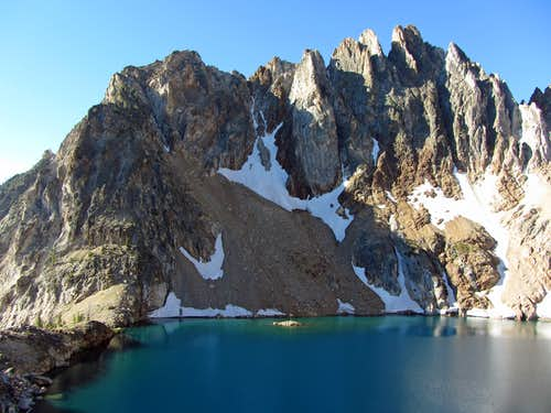 Ridge over 9,000 foot lake