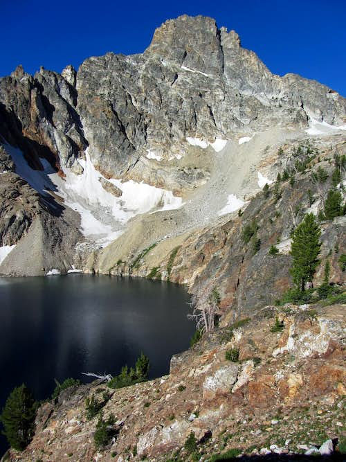 Thompson Peak over 9,000 foot lake
