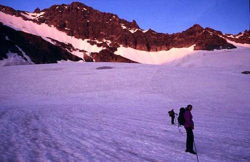 Crossing the Vermunt glacier...
