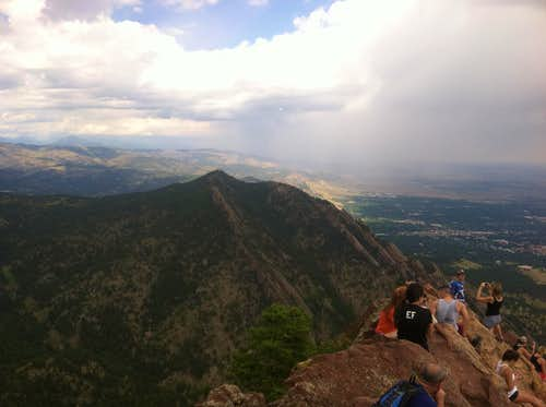 Green Mt and Flatirons