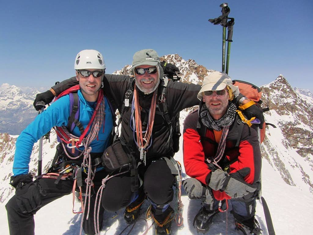 Al, Mark and Rob on the Zumsteinspitze (4563m)