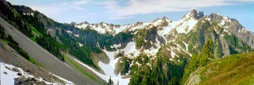 A panorama of Mount Skokomish...