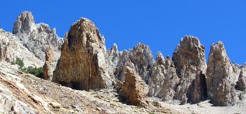 Williams Peak spires