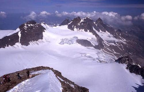 View from the top of Piz...