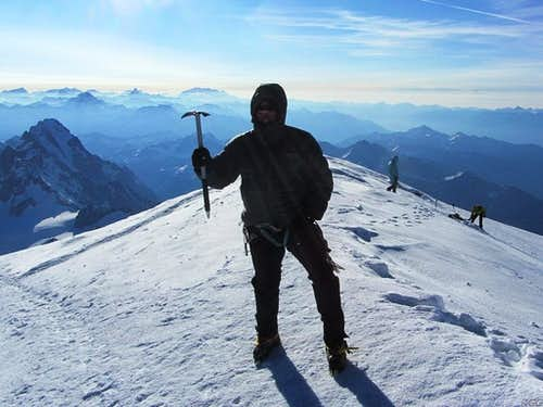 Mark on top of Mont Blanc