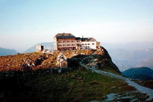 View of Watzmann Haus at...
