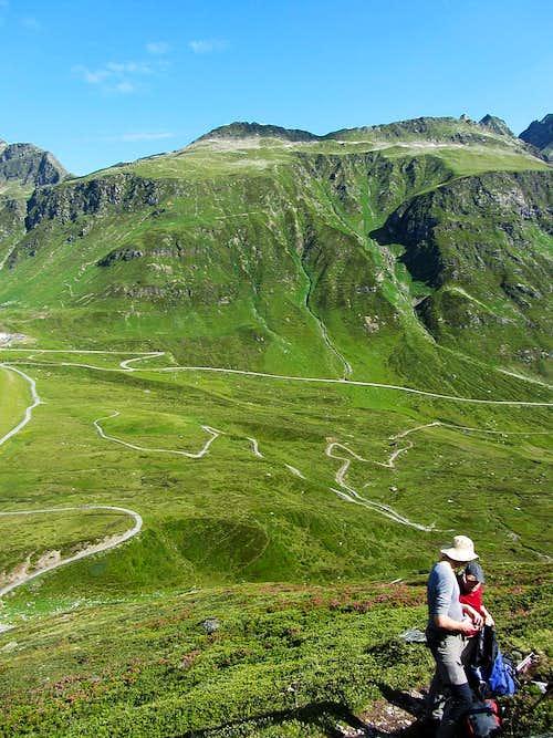 Bielerspitze (2545m) and Klein Vallüla (2643m)