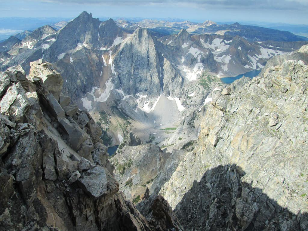 The North Face of Mount Wister seen from the summit of Nez Perce