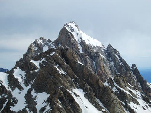 The Grand and Middle Teton seen from the summit of the South Teton, June 24, 2013