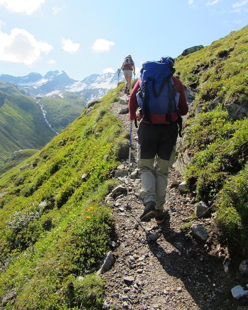 The trail to Hohes Rad