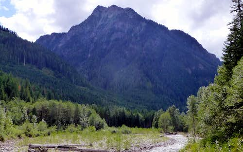 Bear Mountain from North Fork Skykomish River bridge