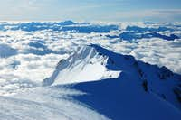 View from Mont Blanc summit