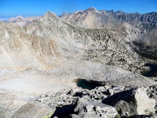 Mount Gould 13,005' center.  Seen from the slopes of University Peak.