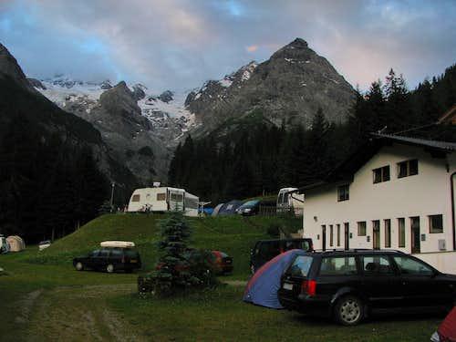 Morning in Trafoi camping