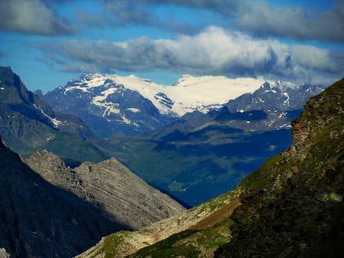 Snow fields in Bernina Group