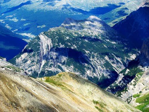 Summit in valley