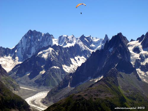 Flying over Mont Blanc massif