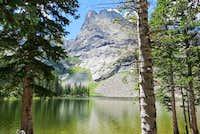 Tijeras from Lower Sand Creek Lake