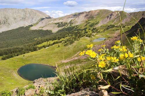 Lakes South of Red Peak