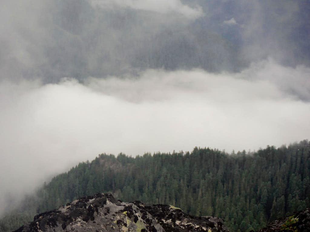 Looking at the rising cloud bank
