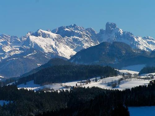 Overview of Dachstein group...