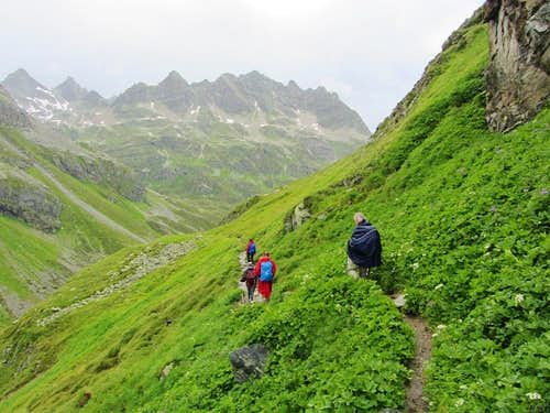 Fellow hikers in the rain