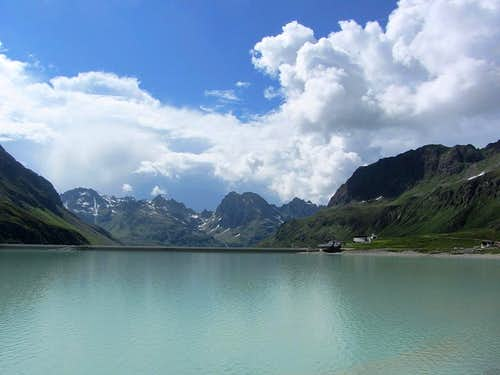 The Silvretta Stausee, with the Hochmaderer in the background