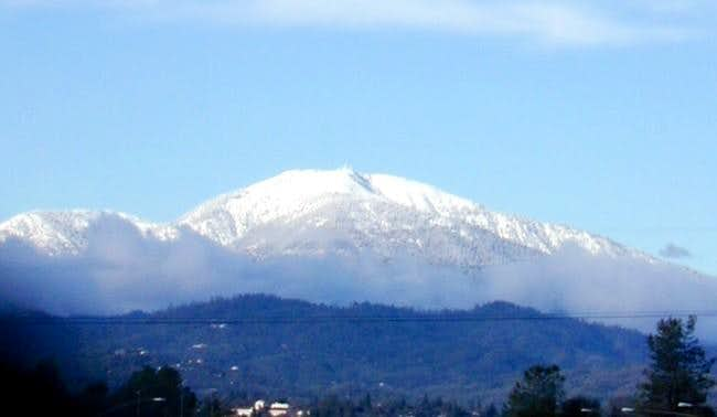 Shasta Bally from downtown...