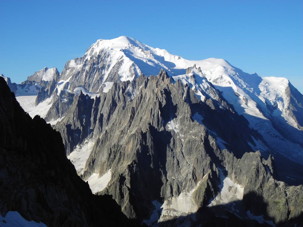 Mont Blanc seen from Grands Montets
