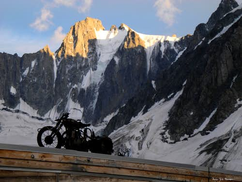 Triolet and the old motor-cycle of the glaciers