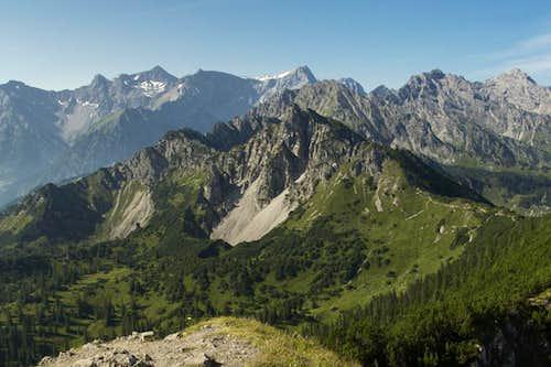 Schillerkopf in front of the Rätikon main ridge