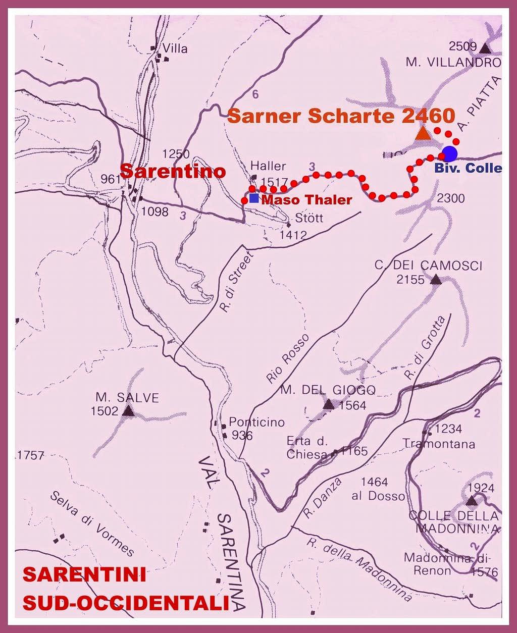 SW Sarentini map