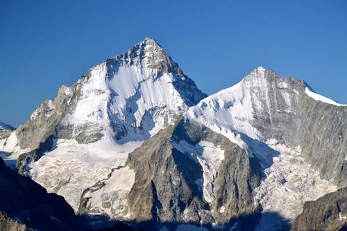 Dent Blanche (4357 m) and Grand Cornier (3969 m)